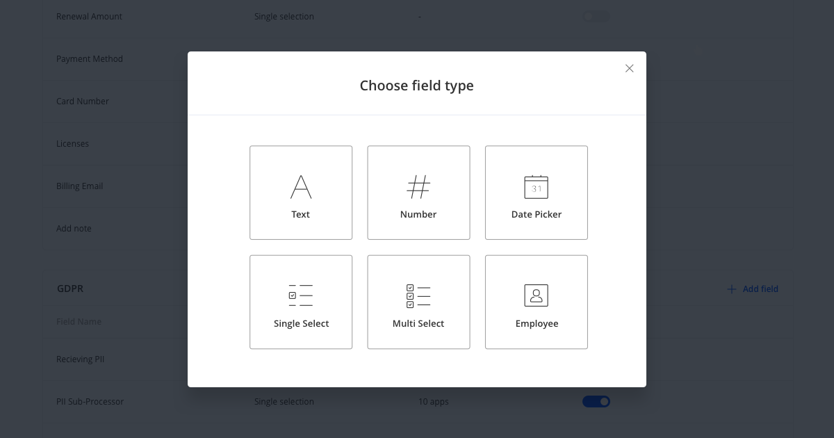 New feature - Custom Application Fields